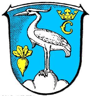 Waberner Wappen - der Graureiher