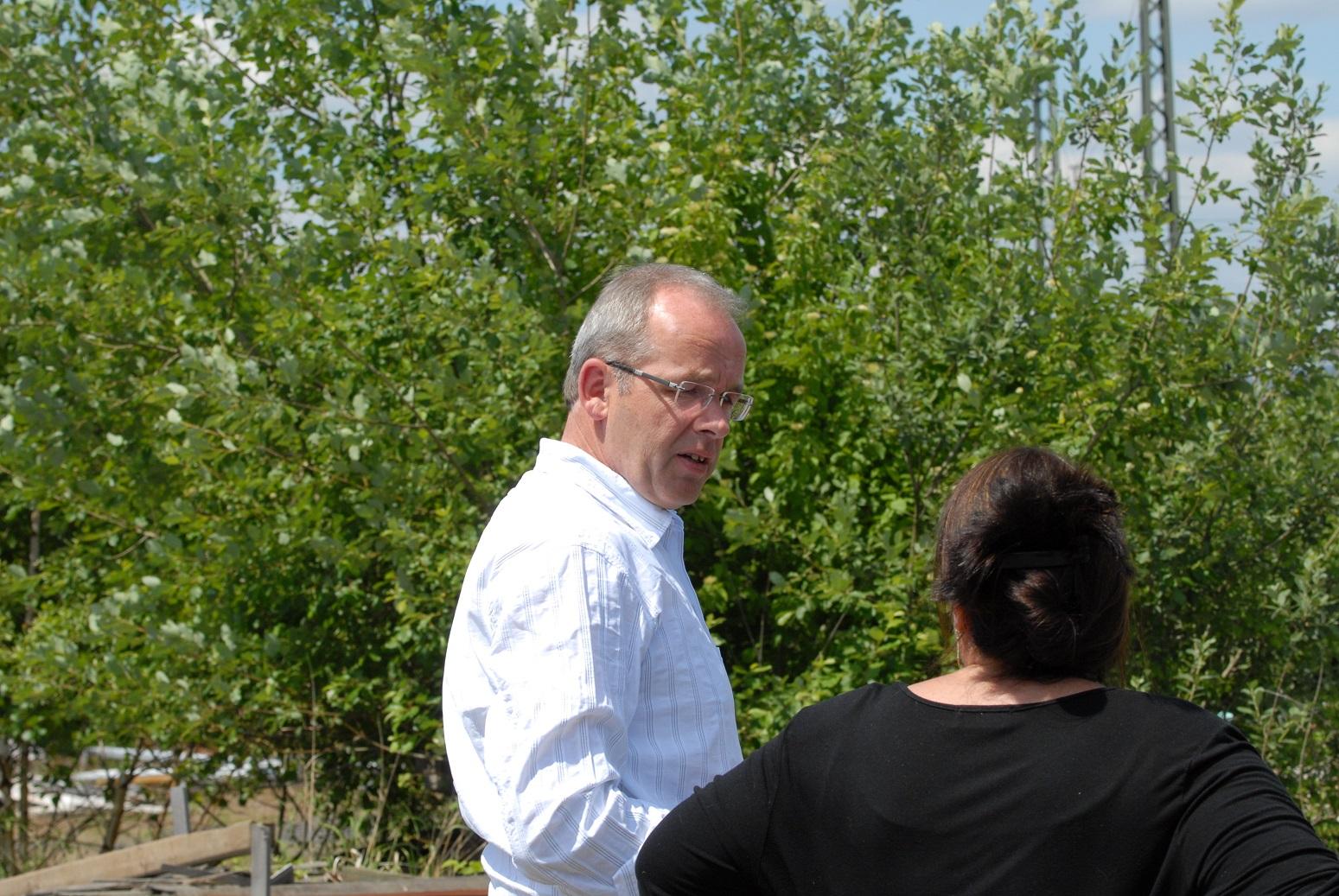 Frau Mose im Gespräch mit unserem jetzigen Bürgermeister